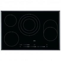 AEG Mastery HK854870FB elektrická varná deska se zkosenou hranou, Hob2Hood, černá, šířka 78 cm