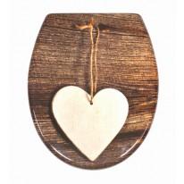 Schütte WC sedátko WOOD HEART | Duroplast, Soft Close