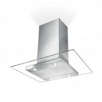 Faber GLASSY ISOLA NS EV8 X/V A90  - ostrůvkový odsavač, nerez / sklo, šířka 90cm