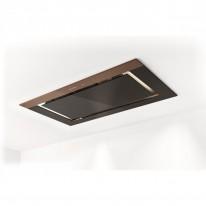 Faber C-AIR KL A90  - stropní odsavač, černé sklo / světle hnědé sklo, šířka 90cm