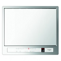 Fulgor Trouba výsuvná-CPLO 6013 TC WH X nerez protiotisková úprava / bílé sklo