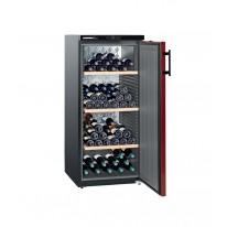 Liebherr WKr 3211 Vinothek, volněstojící vinotéka, boky černé, dveře bordó